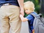 Man holding child hand